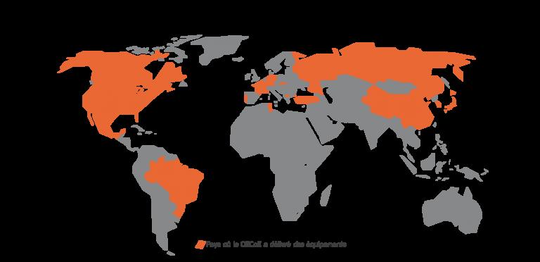 Présence mondiale du GECoE